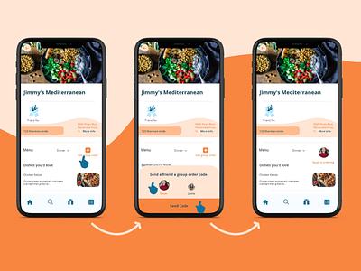 MenuDrive Group Order Flow adobe xd design user flow user experience mockup food food app ux design ui design design adobe xd