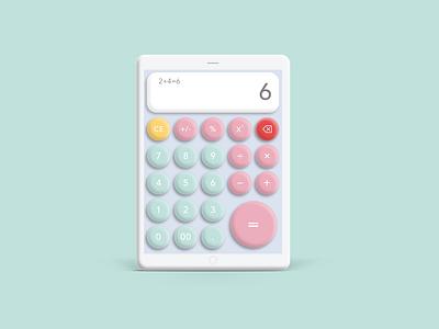 Daily UI 004 - Calculator tablet mockup design ui calculator 3d dailyui illustration