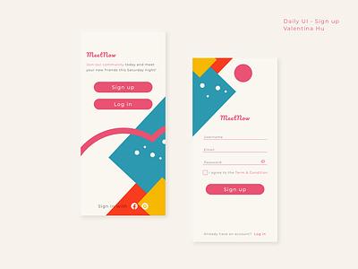 Daily UI - Sign Up geometric sign up mobile app branding dailyui ui illustration