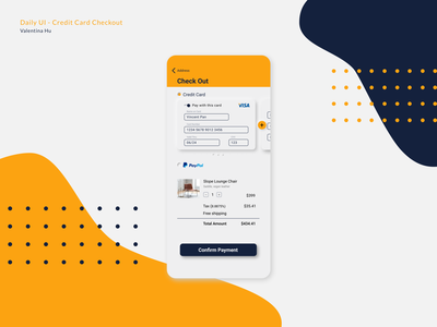 Daily UI - Credit Card Checkout checkout credit card payment app design dailyui ui illustration