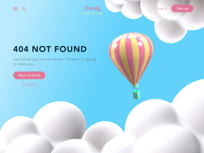 Daily UI - 404 3d website error 404 mockup design ui dailyui illustration