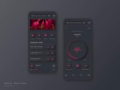 Daily UI - Music Player neomorphism dark mode music app music player mobile app design ui dailyui illustration