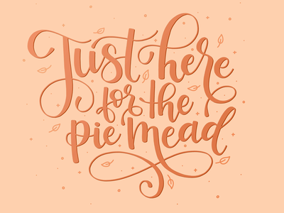 Batch Mead –Pie Mead Series Lettering illustration hand lettering lettering