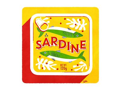 sardine food digital design photoshop logo typography illustration