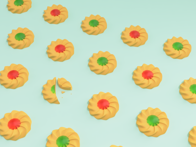 cookies 1 fusion360 cookie food illustration 3d illustration 3d modeling digital art 3d art