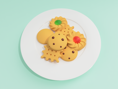 cookies 2 fusion360 cookies food illustration 3d modeling 3d illustration digital art 3d art