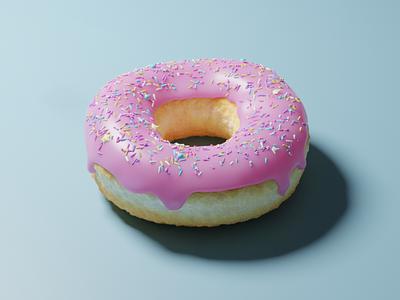 donut blender3d blender food illustration food digital art 3d modeling 3d art
