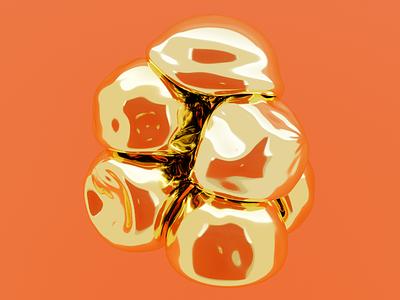 soft gold blender3d blender digital art digital illustration 3d illustration 3d modeling 3d art
