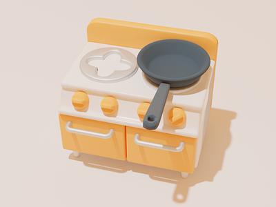 kitchen kitchen blender digital art digital illustration 3d illustration 3d modeling 3d art