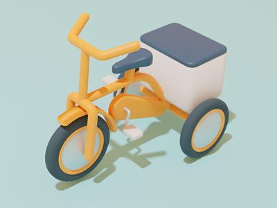 Deilvery Bike delivery app delivery bike blender blender3d digital art illustration 3d modeling 3d illustration 3d art