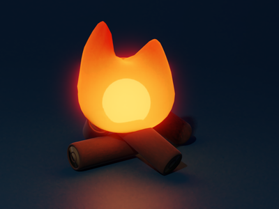 bonfire bonfire camping blender3d blender digital digital art illustration 3d illustration 3d modeling 3d art