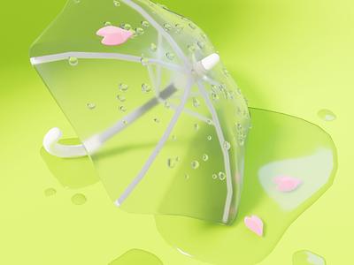 Sakura cherryblossom spring blender digital digital art illustration 3d illustration 3d modeling 3d art