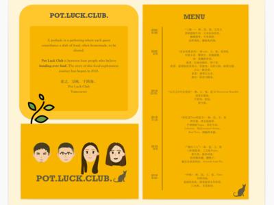 Potluck Club branding visual ui poster design design