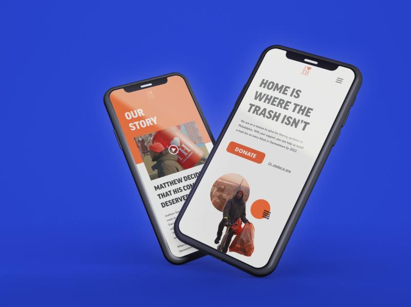 I Love Thy Hood Nonprofit Mobile UX Design minimal web branding orange mockup ui ux nonprofits nonprofit mobile design web design