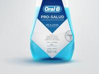 Oral-B Bottle close-up