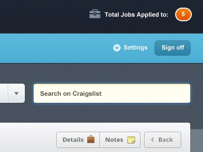 Job Applications Management  user interface ui design