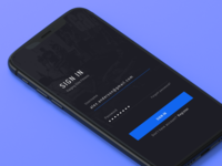Fitness App - Sign In