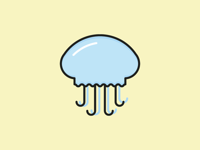 Jellyfish Icon  illustration sea ocean flat vector icon summer jellyfish