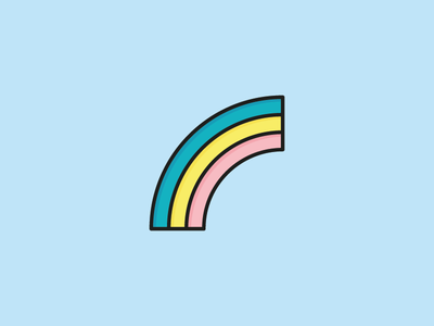 Rainbow Icon vector happiness sunny summer sea ocean illustration icon flat sun sky rainbow