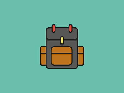 Backpack Icon - Travel Set explore world illustration backpacker flat vector kit journey backpack icon travel