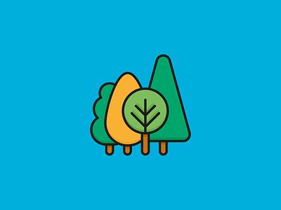 Wood Icon - Travel Set landscape world flat illustration vector explore nature tree wood icon travel