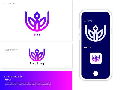 Sapling Logo concept (unused) logomark best logo software app dribbble best shot creative dribble top modren clean agriculture logo agricultural saplings sapling brand design logodesign