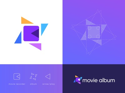 movie album | modern logo design | branding arrow recorder video movie clean creative album cover pictorial mark icon app clients brand identity brandign logo play music album film logo filmmaker film