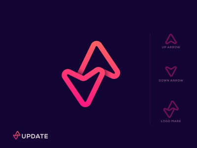 update logo (for sale) bow target arrow forward status refresh status update o p q r s t u v w x y z a b c d e f g h i j k l m n up-down minimal icon flat illustration abstract brand identity creative modern upgrade upload updates arrow down up update