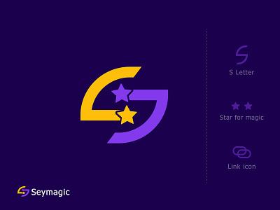 brand mark for seymagic brand mark hire logo designer star logo designer magic logo ios icon app s logo creative bradning brand identity link magic minimal falt modern lettering s mark s letter