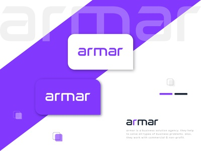 brand identity logo design for armar custom font armar redesign logo company logo minimal modern logo logo mark typography logo typo customtype typography lettering simple logo branding concept clean branding and identity brand branding brand design brand identity