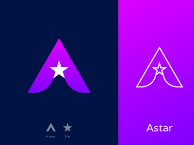 A/Star Logo Design  | A Modern letter logo | Star logo design modern logo combination logo brand mark corporate logotype logo identity logo idea star star logo logos brand identity bradning lettering custom logo design logo trends 2020 logo mark apps icon bussiness logo a letter logo a