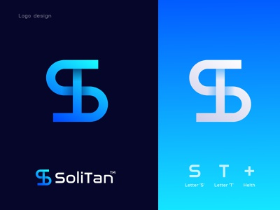 (S+T+Health) SoliTan Logo design | S Modern logo | T Modern logo healthcare app health logotype 2021 website logo app icon logo letter logo gradient logo best logo designer creative logo design branding agency brand identity logo abstract modern logo t letter s letter st letter t logo s logo