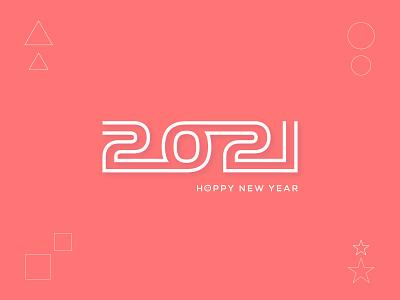 Happy new year 2021 | Typography logo design nightlife minimalist logo brand identity branding stoke lineart happy lettermark creative logo modern logo designer modern logo logo trends 2021 typograhy logodesign 2021 happy new year 2021 happy new year