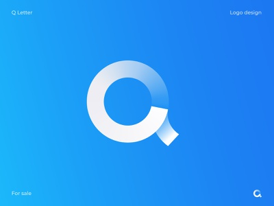 Q Mark website logo software logo type mark icon brand geometic symbol lettermark paper branding app icon logotype modern logo clean white q logo letter q q