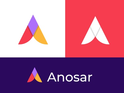 A letter logo mark for Anossar | Modern Logo design | A Logo brand identity modern logo logotype website logo ui ux creative logo branding agency logo design agency app icon logo trends 2021 logo design concept brand design branding hire logo designer logo desgin colorfull a logo a letter a letter logo mark a