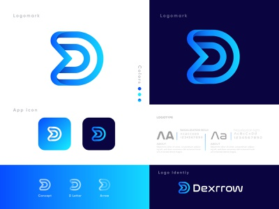 Branding D+Arrows Logo Design - Brand Style guidelines -Identity brand identity mark identity app logo design app icon logo design branding creative design agency dribbble minimalist logo modern logo logotype logo brand style branding up arrow d letter d mark d logo