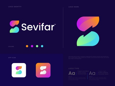 Modern S Letter Logo design Branding For Sevifar | Gradient logo modern logo design o p q r s t u v w x y z a b c d e f g h i j k l m n logo logo design logo identity minimal s logo logo folio logo collection modern logos letter logo logotype branding agency app logo app icon brand and identity branding colorful logo abstract logo gradient logo modern logo s logo mark s letter