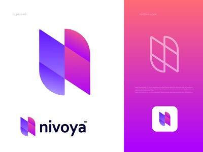 nivoya Logomark web development services n logo tech brand identity branding design minimal design logotype logos logo branding and identity lettermark abstract logo android ios macos icon app icon logo designer trendy logo playful gradient creative colorful modern logo modern logo design branding logodesign n letter logo