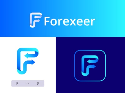 Forexeer -  Stock exchange - Trading platform Logo Design investment invest stock market ios app icon money transaction f  letter mark crypto exchange logo blockchain exchange fintech branding branding brand identity mobile web app ui ux design cryptocurrency app website web finance bitcoin trading platform trading forex