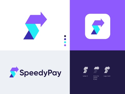 SpeedyPay Logo branding - fast online payment solution Logo s with arrow logo credit card pay fast quick speedy best logo designer online pay arrow fast money transfer branding fintech pay payment wallet app logo design brand identity s logo letter letter modern logo payment app payment method transfer payments online payment logo design