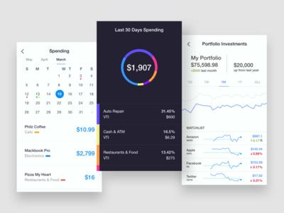 Finance / Mobile Design