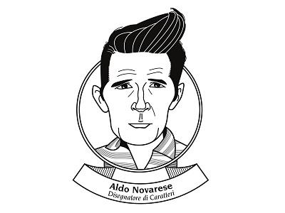 Aldo Novarese: disegnatore di caratteri type design type designer caricature