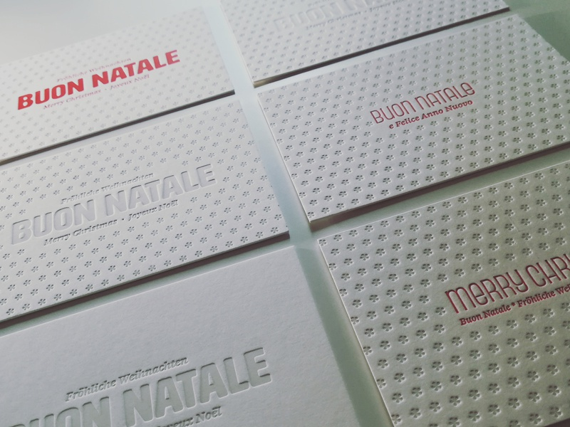 Letterpress Christmas Cards by Maurizio Piacenza - Dribbble