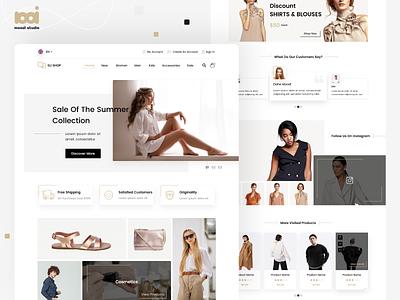 Eli Shop front end web desgin boutique web site creative design kit userinterface store minimal uiux ux design ui design web design buy shop