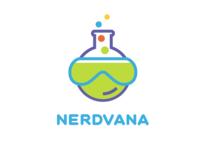 Nerdvana logo concept 3
