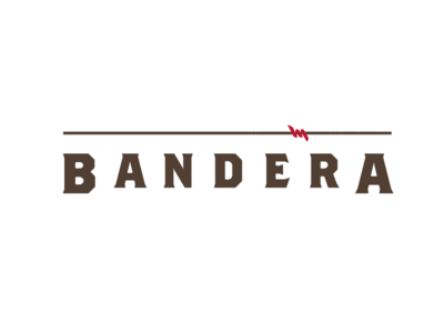 Bandera logo concept 2 brown red barbed wire real estate apartments bandera