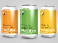 Plain Beer Can Design