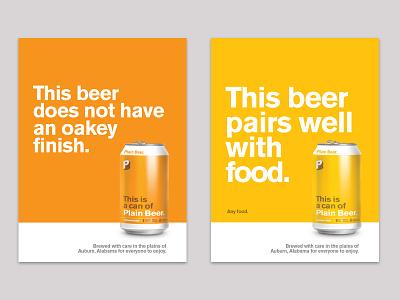 Plainbeer Posters 2 poster plain beer beer can brewery beer