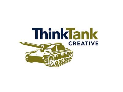 Think Tank Creative Logo think tank military creative pencil tank