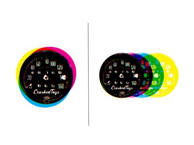 Speedometers process colors cmyk motorcycle speedometer